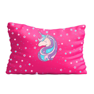Unicorn and stars name pink pillow case - Wimziy&Co.