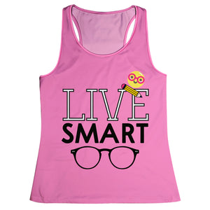 Live Smart Pink Tank Top - Wimziy&Co.