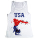 White USA and gymnast girls tank top - Wimziy&Co.