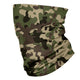 Camo Print Green and Black Neck Gaiter - Wimziy&Co.