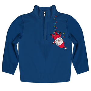 Boys Santa & Christmas lights Quarter Zip Sweater - Wimziy&Co.