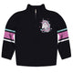 Black and pink unicorn quarter zip sweatshirt with name - Wimziy&Co.