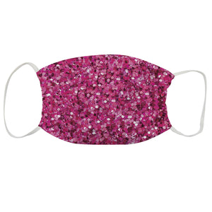 Dance Silhouette Name Pink Glitter Face Mask - Wimziy&Co.
