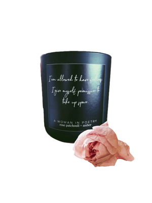 Rose Patchouli + Amber Intention Candle