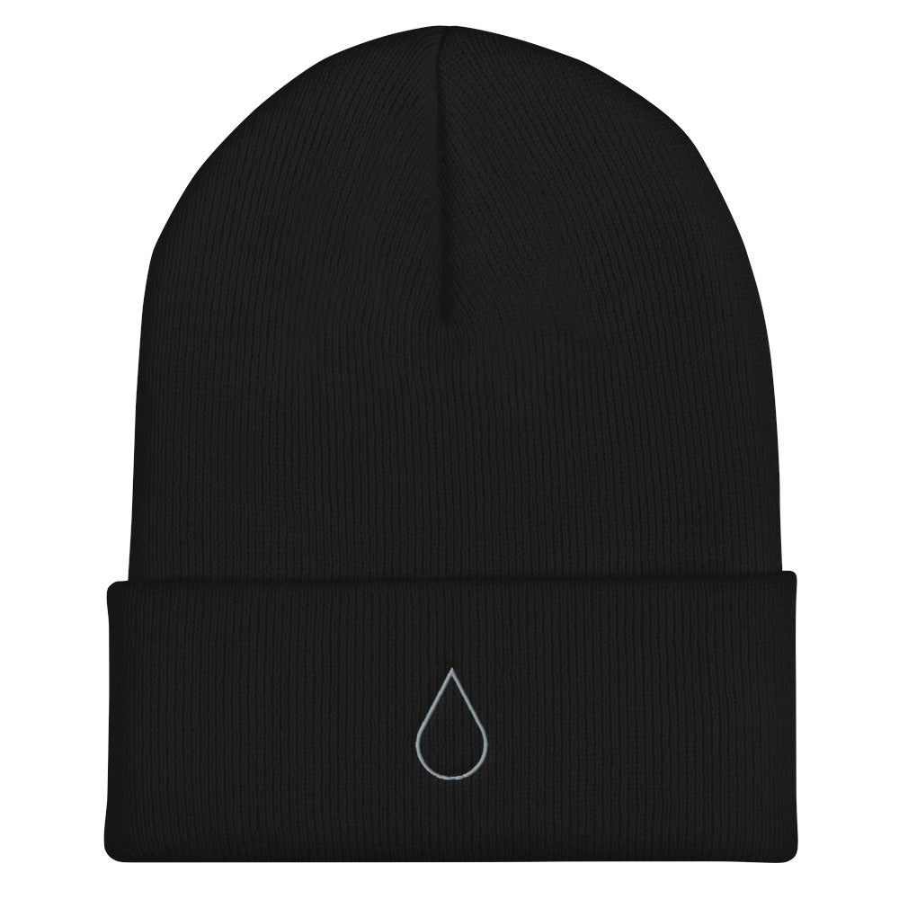 Teardrop Embroidered Beanie