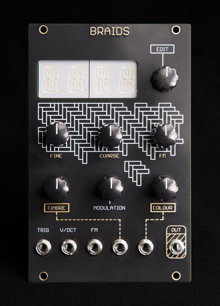 Mutable Instruments Braids (Oscillosaurus Black/Gold)