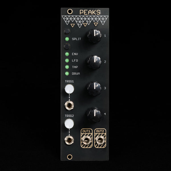 Mutable Instruments Peaks (Oscillosaurus Black/Gold)