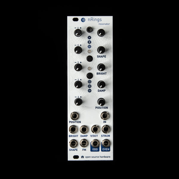 nanoRings Micro Mutable Instruments Rings (White Textured Magpie)