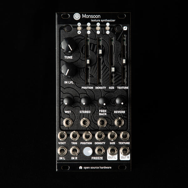 Monsoon (uBurst+) Expanded Mutable Instruments Clouds (Black Textured Aluminum)