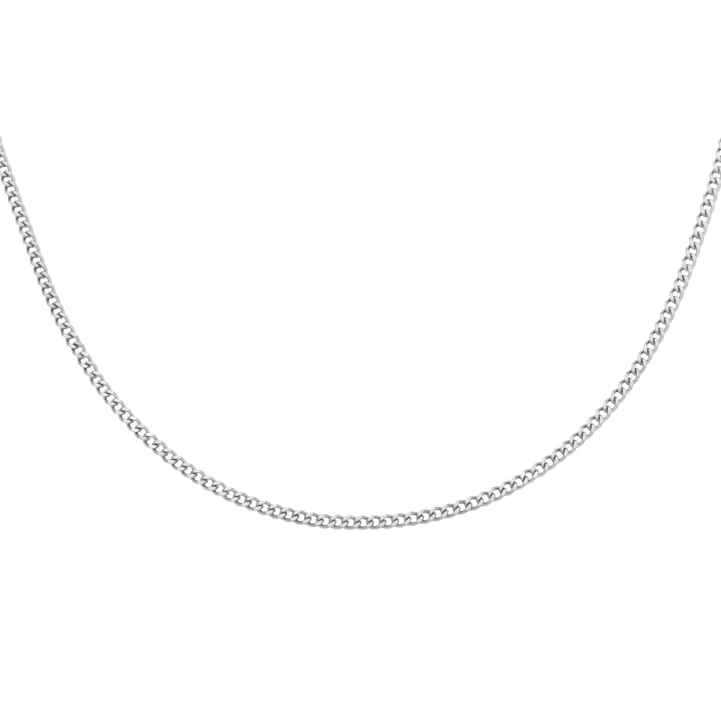 Tiny plain chain Necklace Silver
