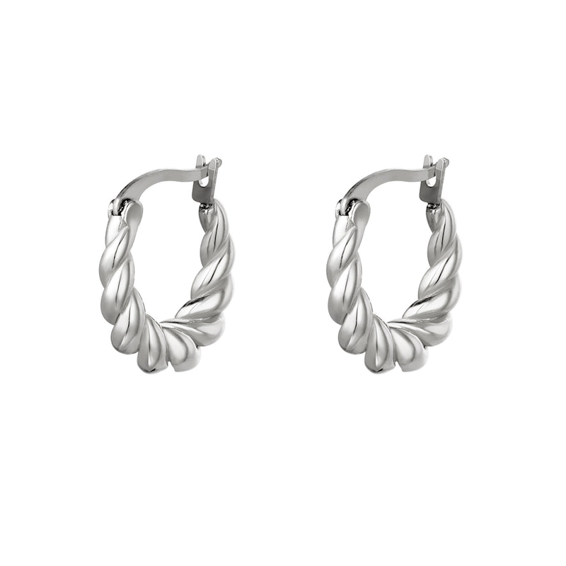 Dangling twisted earrings Silver