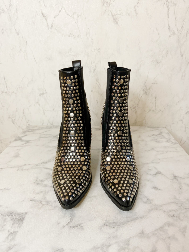 Silver Studded Ankleboot