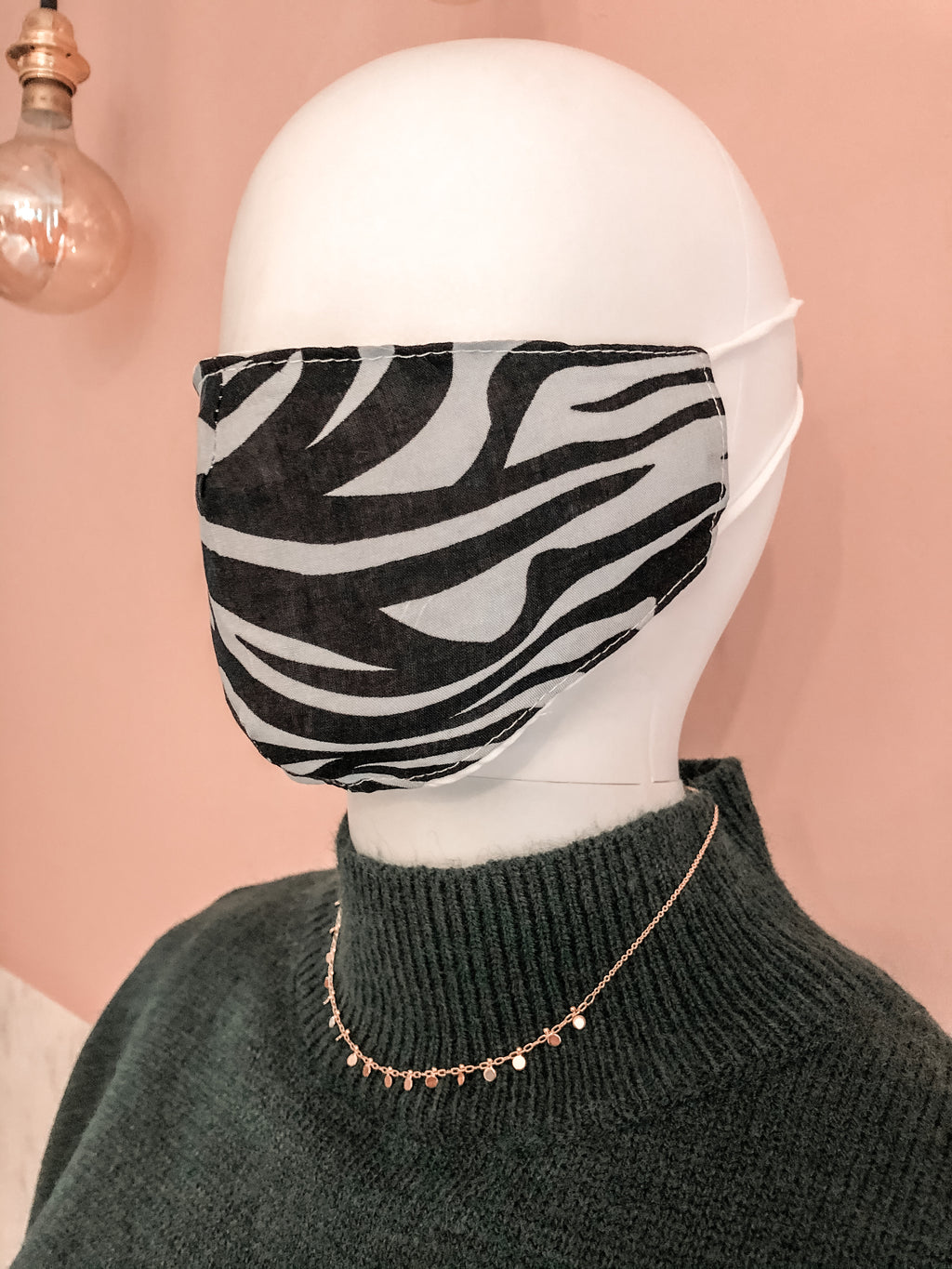 Face mask Zebra Grey