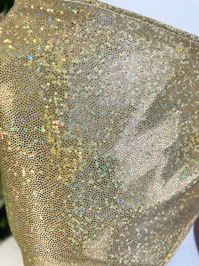 Face mask Glitter party Gold