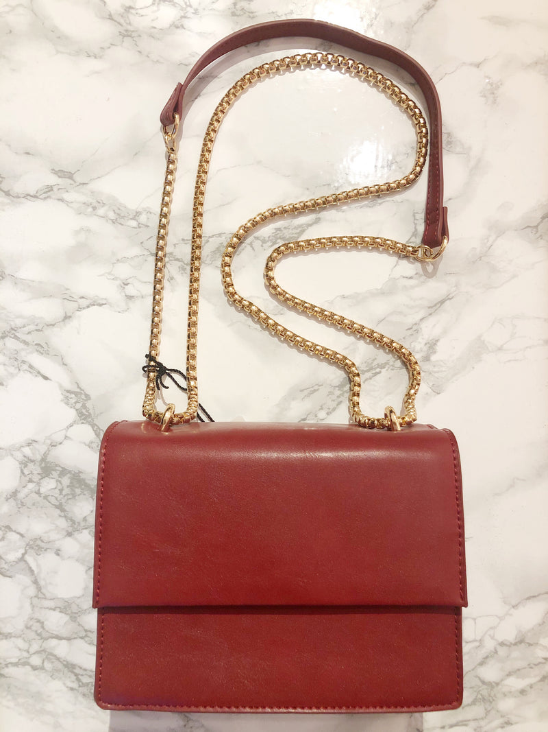 Mini chain bag warm Red