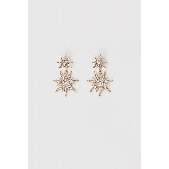 Star stone Golden earrings