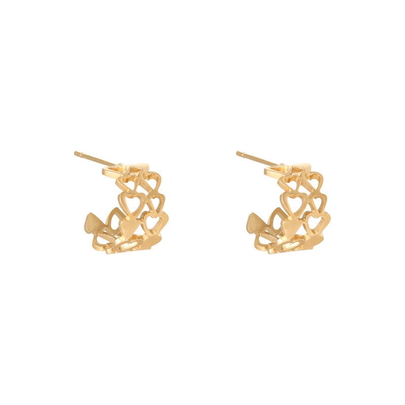 Bold Heart earrings Gold