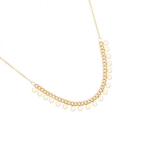 Lovely necklace tiny circles - Gold