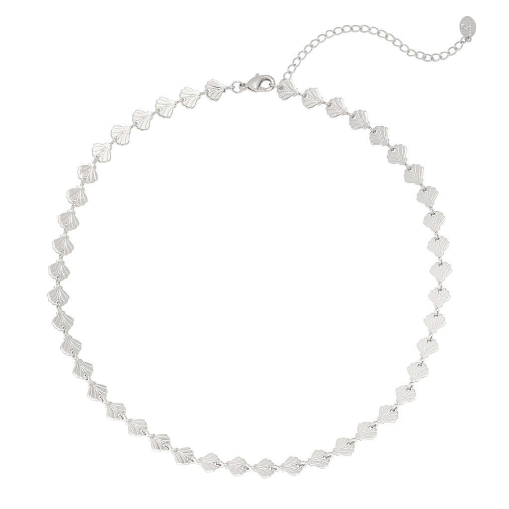Chocker necklace Shell silver
