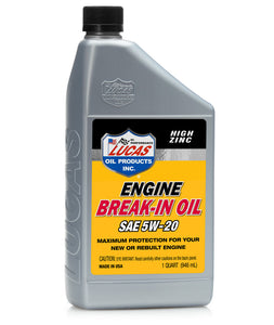 LUCAS ENGINE BREAK-IN OIL SAE 5W-20 #11033 / 11034 / 11035 / 11036