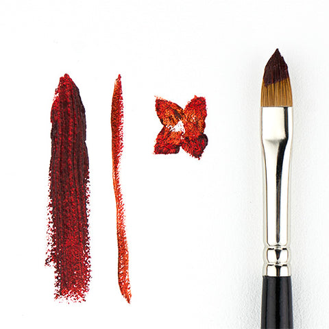 Red Sable Cat's Tongue Oval Paint Brush