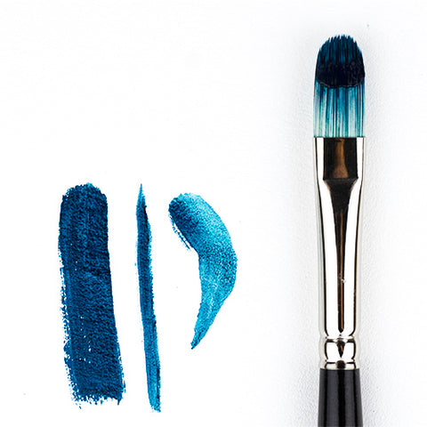 Filbert Opal Brush Synthetic Hog Bristle