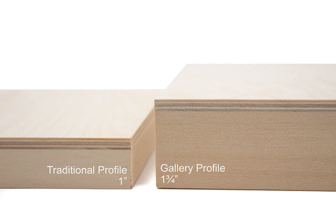 Cradled Panel Profile Depths