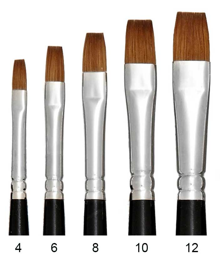 Red Sable Artist Paint Brushes