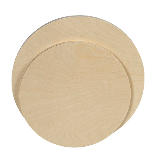"Raw Round Wood Panel - 1/2"" Baltic Birch"