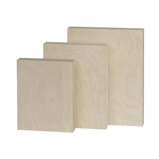 Raw Baltic Birch Art Painting Panels Wood Cradled