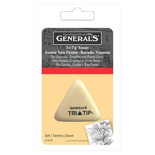 General Pencil Erasers Tri Tip