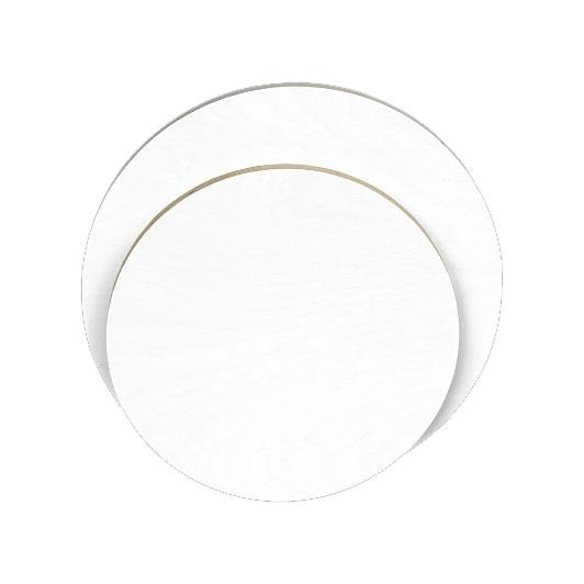 Gesso Primed Round Wood Painting Panel Canvas Circle