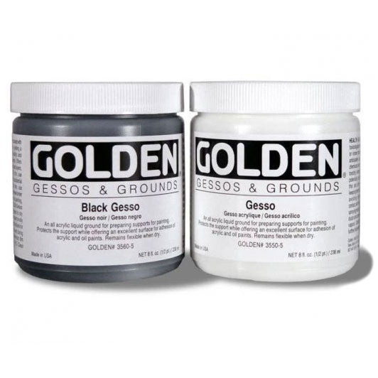 Golden Acrylic Gesso Black and White