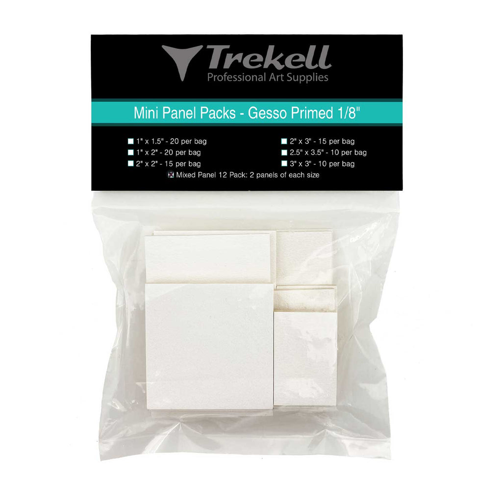 Mini Panel Packs - Gesso Primed 1/8""
