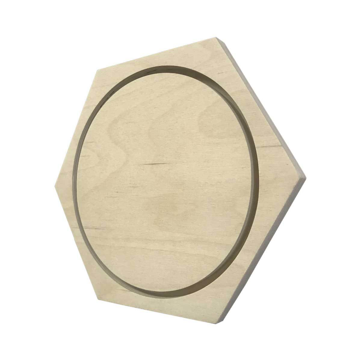 Hexagon Floater Painting Panel Wood Canvas