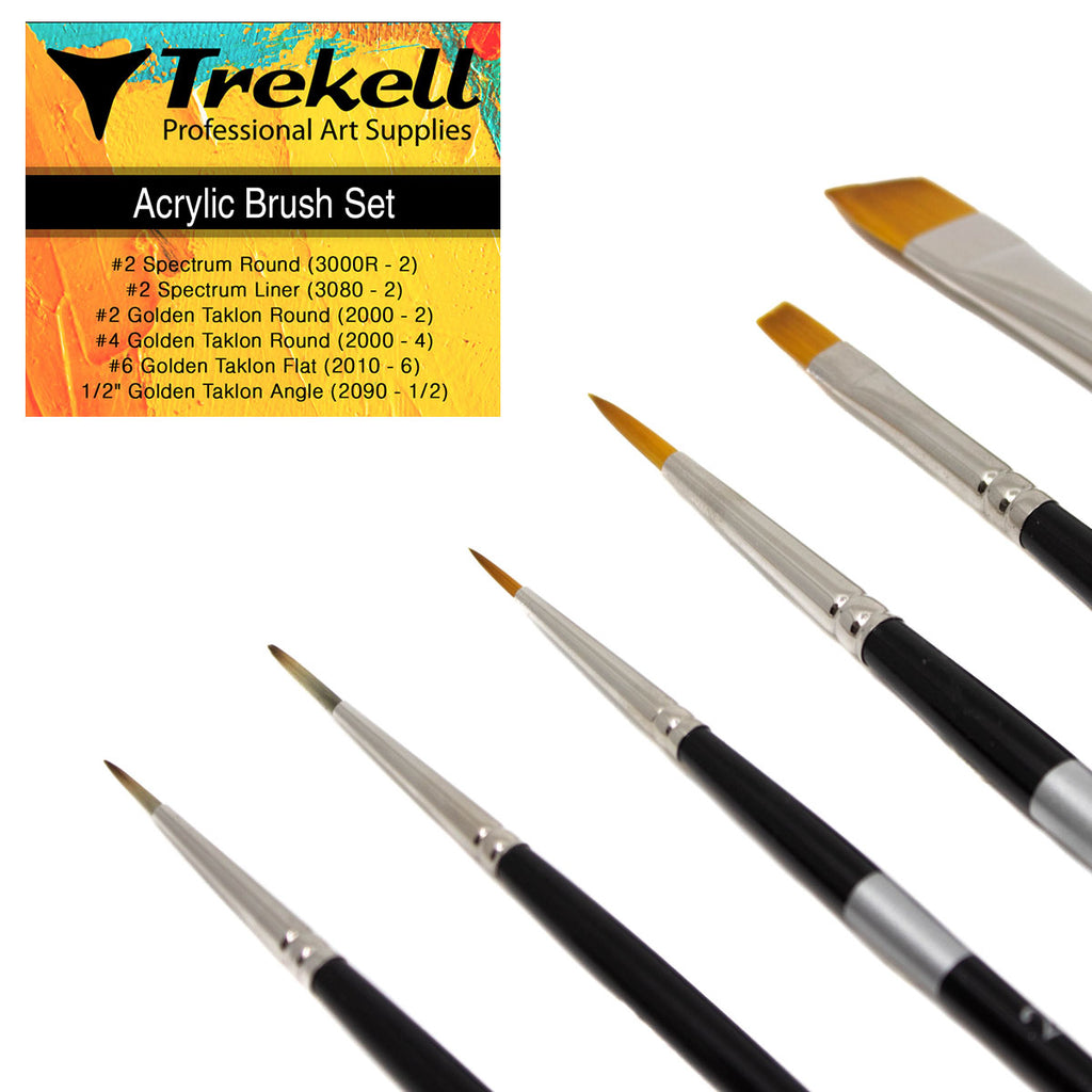 Trekell Acrylic Brush Set