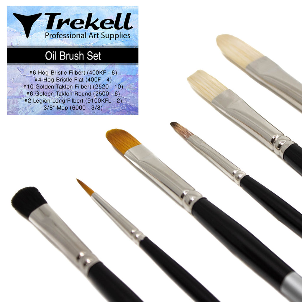 Trekell Oil Brush Set