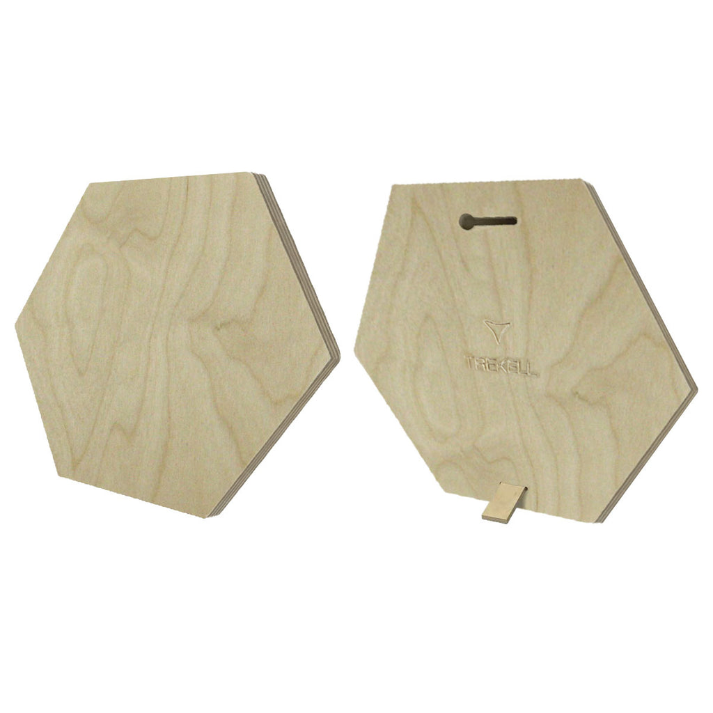 "Hexagon Raw Wood Block Panel - 1/2"" Baltic Birch"