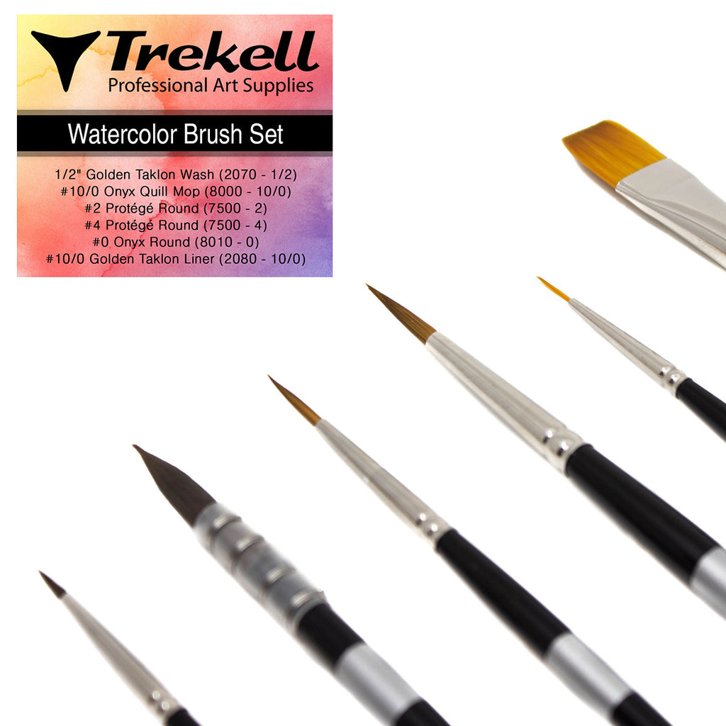 Trekell Watercolor Brush Set
