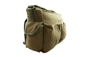 Classic Canvas Messenger Bag Vintage Heavy Duty Military Laptop Ipad Shoulder Travel Book Bag - k-cliffs