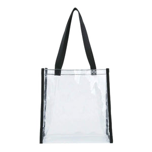 "Nice and Great 12"" Clear Tote NFL Stadium Approved See Through Tote PGA Compliant Transparent Snack Bag - k-cliffs"