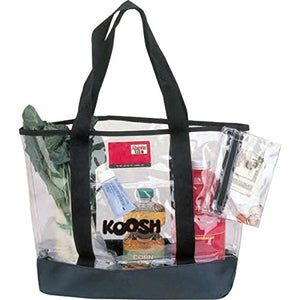 "20"" Clear Reusable PVC Tote Bag w/ FREE Coin Pouch - k-cliffs"