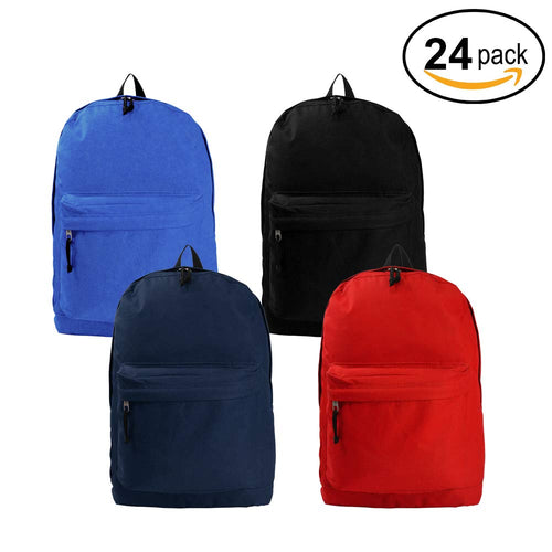 Classic Backpack Wholesale 18 inch Basic Bookbag Bulk School Book Bags 36pcs Lot - k-cliffs