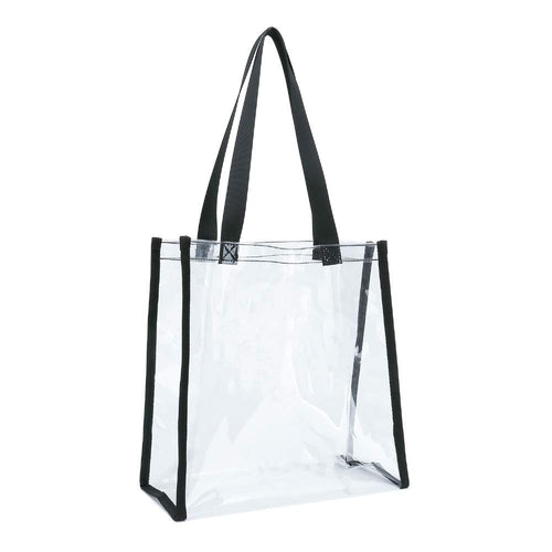 Clear Transparent No-Closure Tote Messenger Bag - k-cliffs