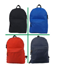 "Load image into Gallery viewer, Wholesale Classic Backpack 18"" Bulk Basic Padded School Book Bag Case Lot 30pcs - k-cliffs"