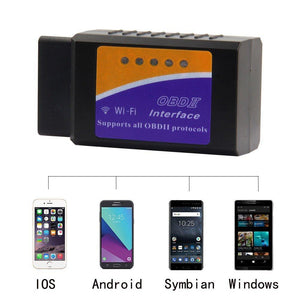 OBD2 Car Diagnostic Device Wireless Car Code Reader Diagnostic Scan Device WiFi Scanner Adapter Check Engine Diagnostic Compatible with Android iOS - k-cliffs