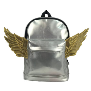 Kids Backpack Fashion Woman Mini Backpack Lady Purse Toddler Daypack Angel Wings - k-cliffs
