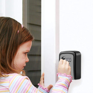 Realtor's Key Lockbox | Wall Mounted with 4 Digit Combination | Holds up to 5 Keys - k-cliffs