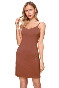 Women's Seamless Cami Slip-on BodyCon Dress with Straps