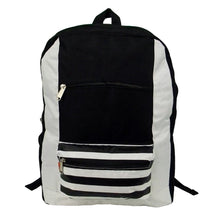 "Load image into Gallery viewer, 18"" Contrast Basic Striped Backpack - k-cliffs"